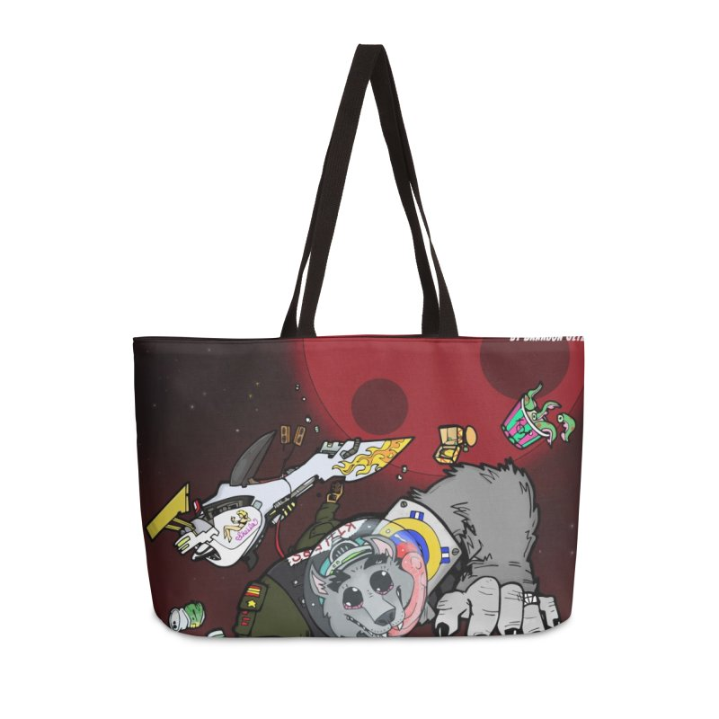 Lars Breaxface Cover - Brian Gonnella Accessories Weekender Bag Bag by Spaceboy Books LLC's Artist Shop