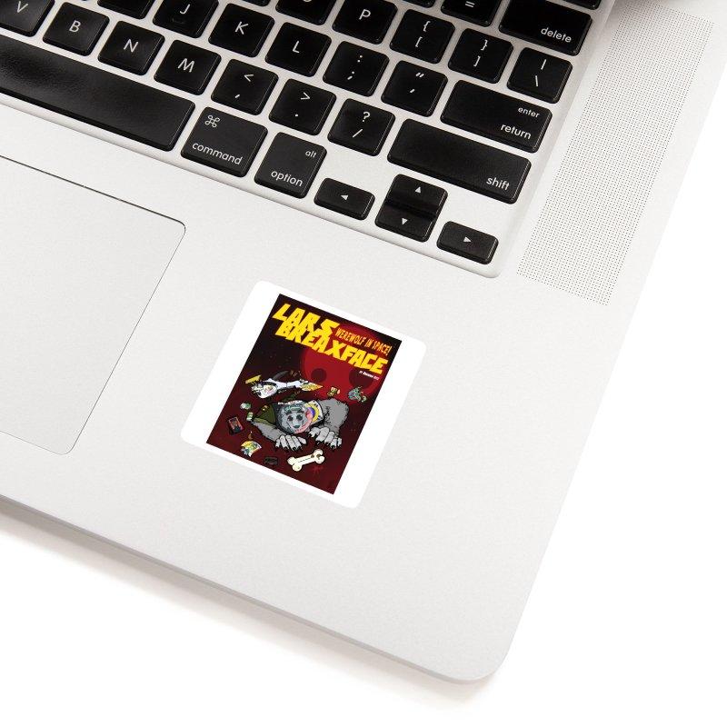 Lars Breaxface Cover - Brian Gonnella Accessories Sticker by Spaceboy Books LLC's Artist Shop