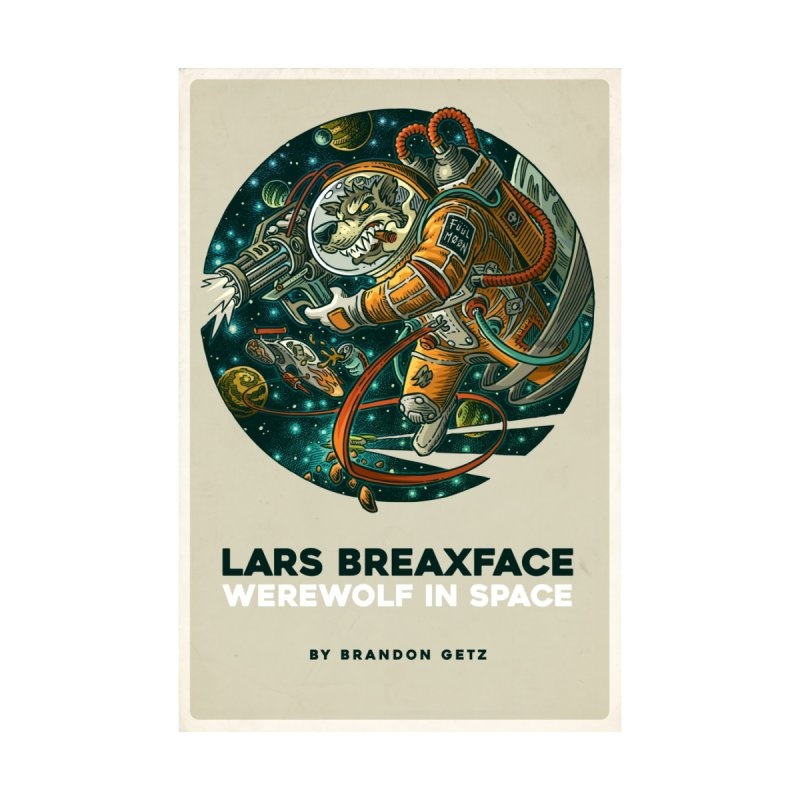 Lars Breaxface Cover - Joe Mruk Men's V-Neck by Spaceboy Books LLC's Artist Shop