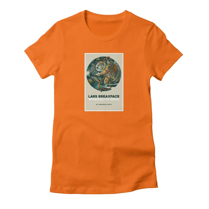 Lars Breaxface Cover - Joe Mruk Women's Fitted T-Shirt by Spaceboy Books LLC's Artist Shop