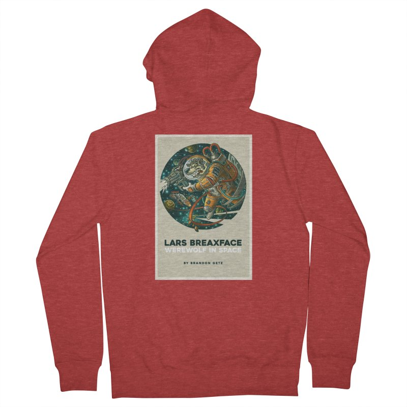 Lars Breaxface Cover - Joe Mruk Women's French Terry Zip-Up Hoody by Spaceboy Books LLC's Artist Shop