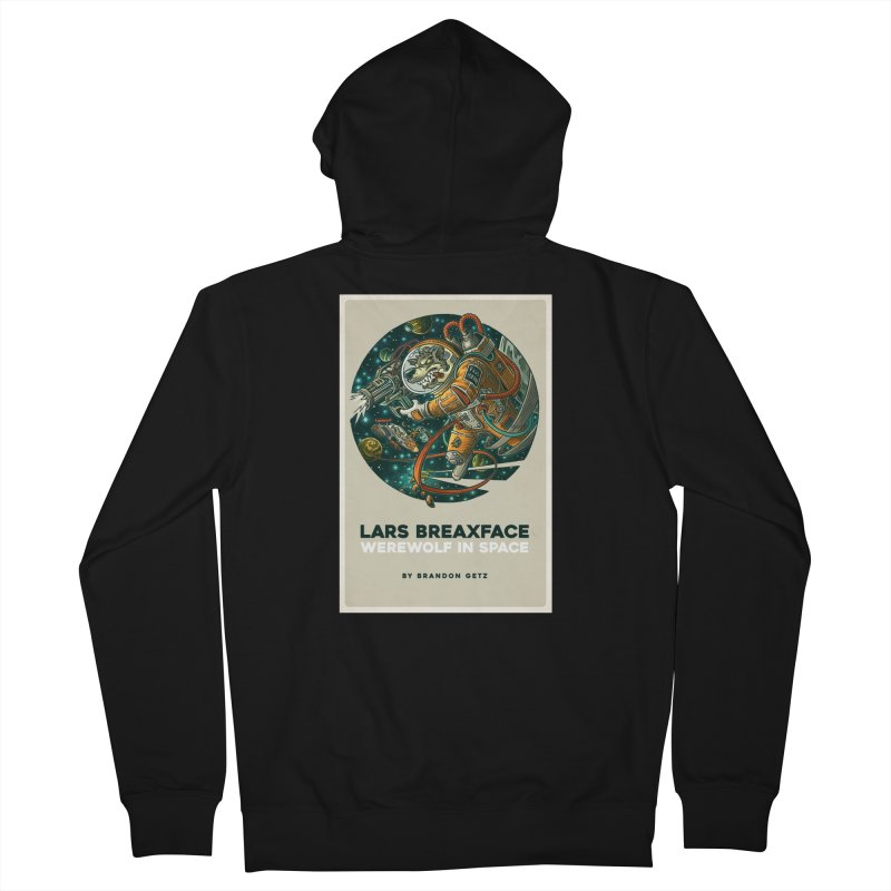 Lars Breaxface Cover - Joe Mruk Men's French Terry Zip-Up Hoody by Spaceboy Books LLC's Artist Shop