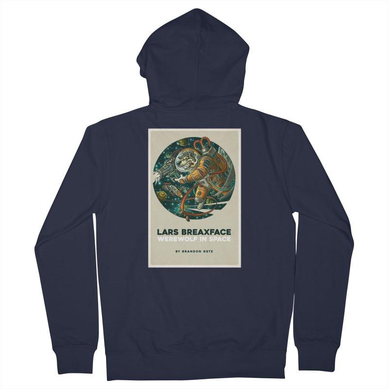 Lars Breaxface Cover - Joe Mruk Men's French Terry Zip-Up Hoody by Spaceboy Books LLC's Artist Shop