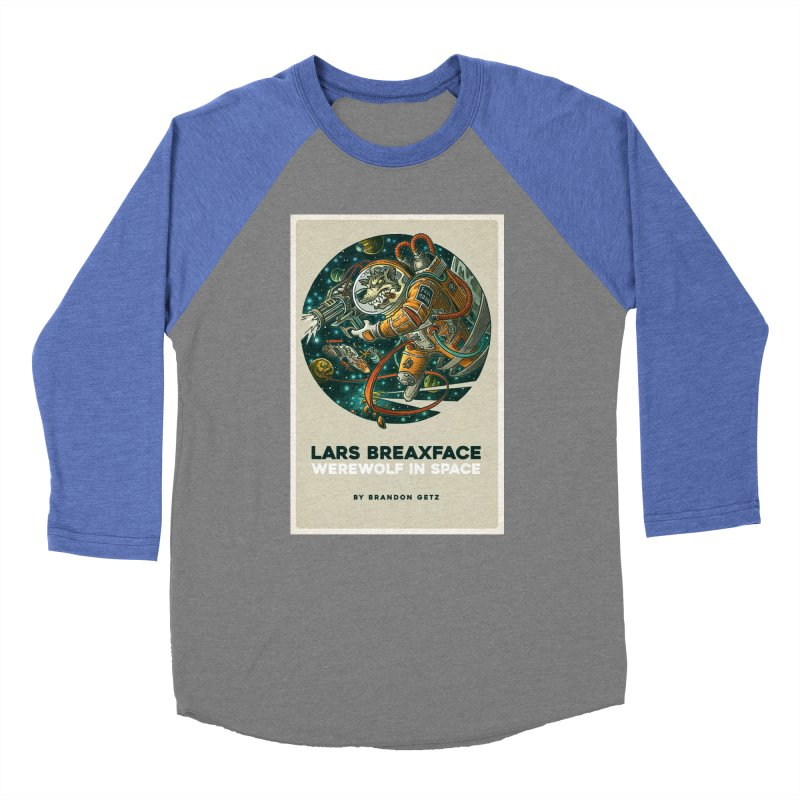Lars Breaxface Cover - Joe Mruk Women's Baseball Triblend Longsleeve T-Shirt by Spaceboy Books LLC's Artist Shop