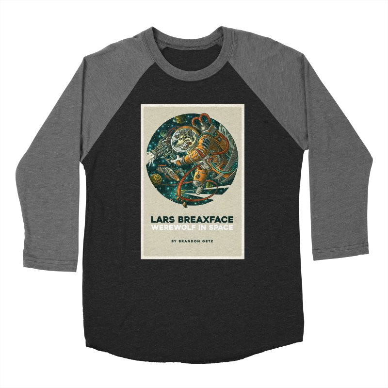 Lars Breaxface Cover - Joe Mruk Men's Baseball Triblend Longsleeve T-Shirt by Spaceboy Books LLC's Artist Shop