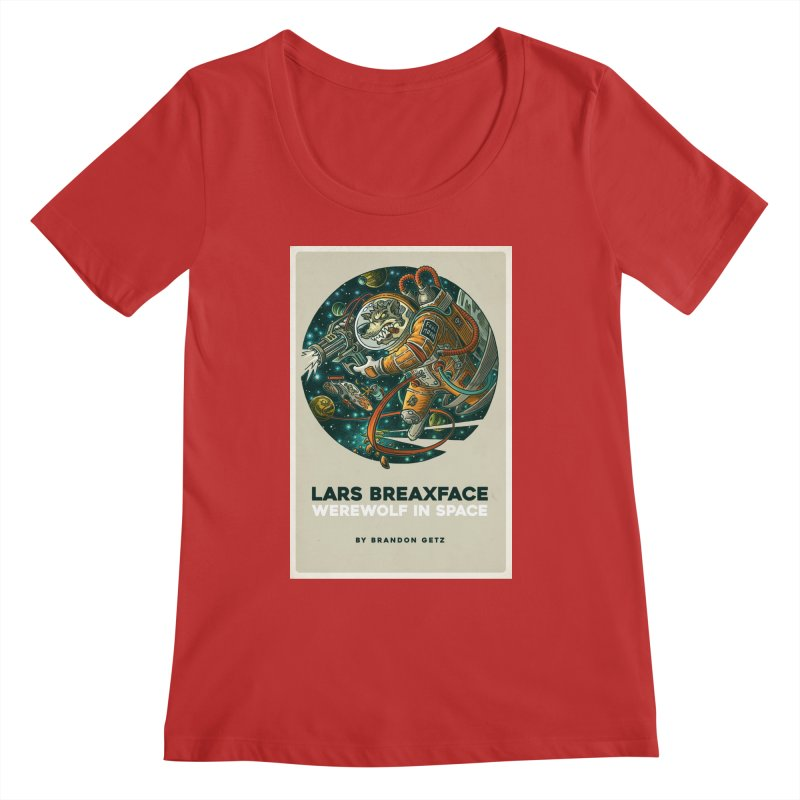 Lars Breaxface Cover - Joe Mruk Women's Regular Scoop Neck by Spaceboy Books LLC's Artist Shop
