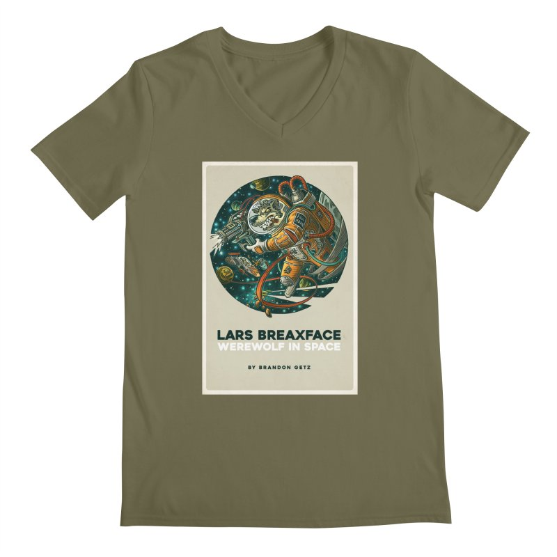 Lars Breaxface Cover - Joe Mruk Men's Regular V-Neck by Spaceboy Books LLC's Artist Shop