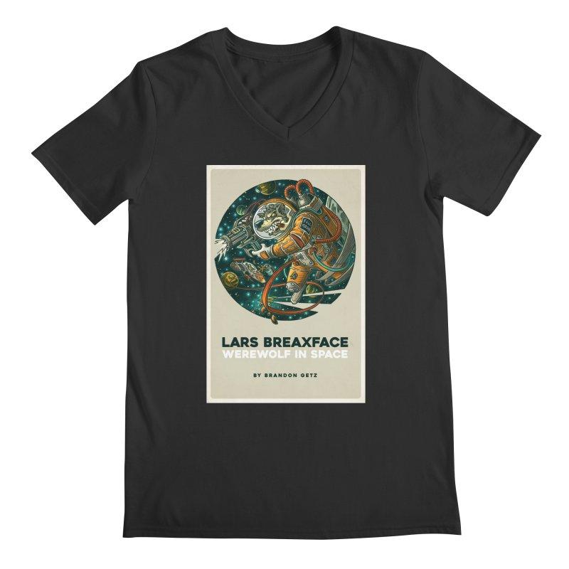Lars Breaxface Cover - Joe Mruk Men's Regular V-Neck by Spaceboy Books LLC's Artist Shop