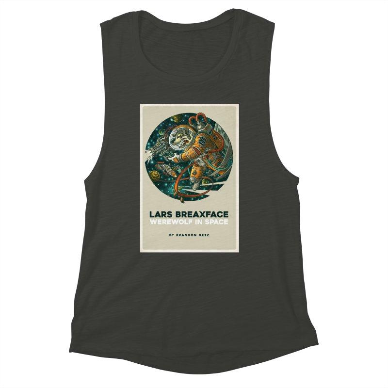 Lars Breaxface Cover - Joe Mruk Women's Muscle Tank by Spaceboy Books LLC's Artist Shop