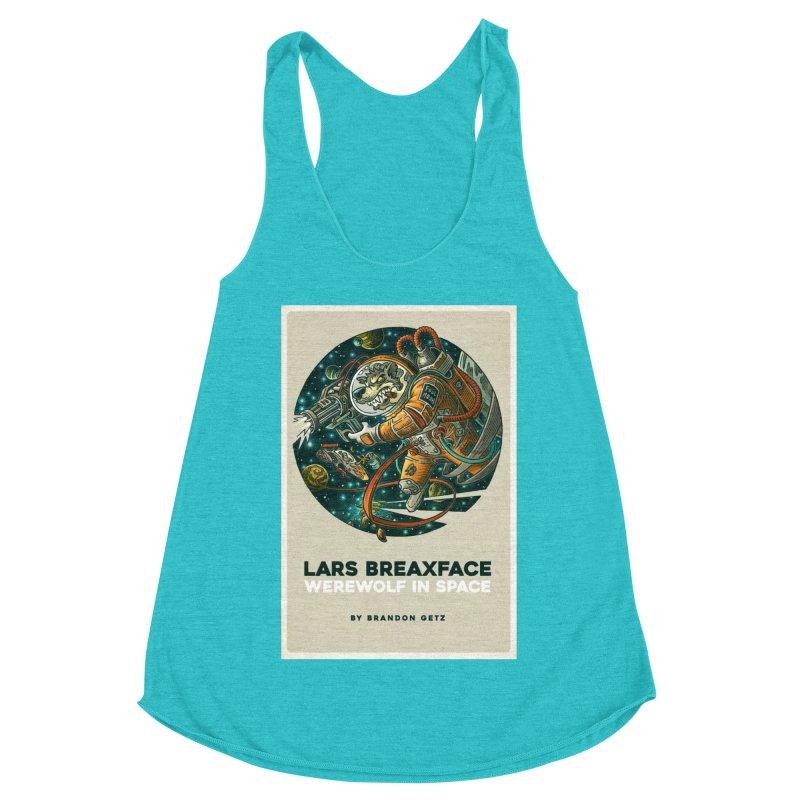 Lars Breaxface Cover - Joe Mruk Women's Racerback Triblend Tank by Spaceboy Books LLC's Artist Shop