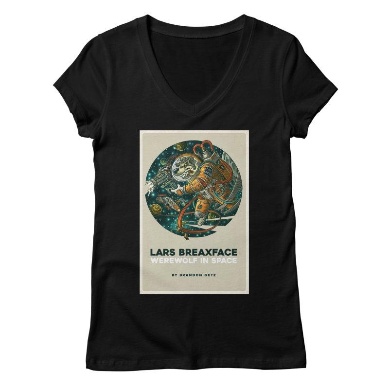 Lars Breaxface Cover - Joe Mruk Women's V-Neck by Spaceboy Books LLC's Artist Shop