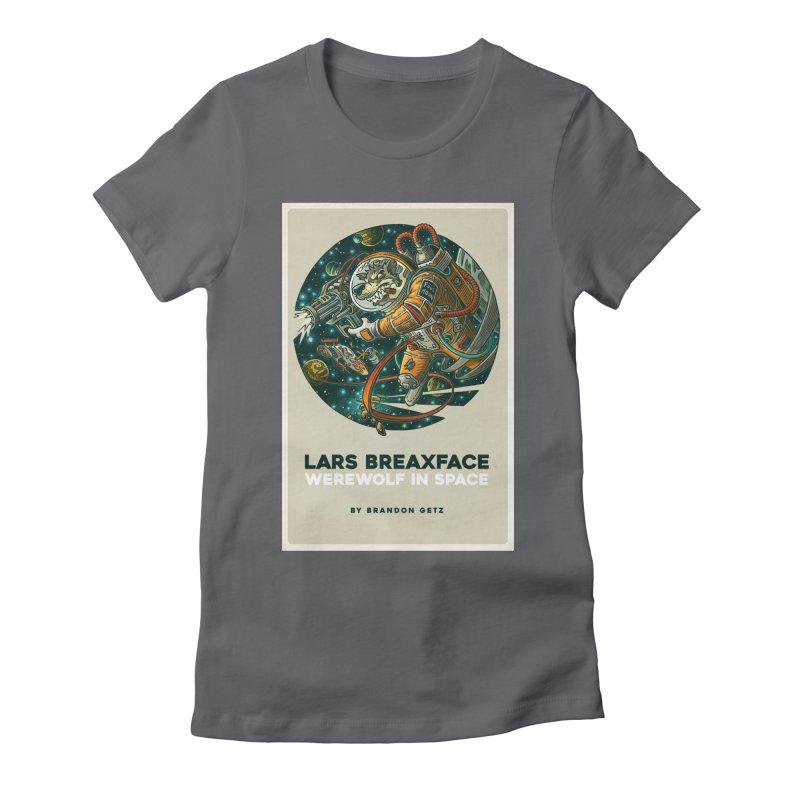Lars Breaxface Cover - Joe Mruk Women's Fitted T-Shirt by Spaceboy Books LLC's Artist Shop