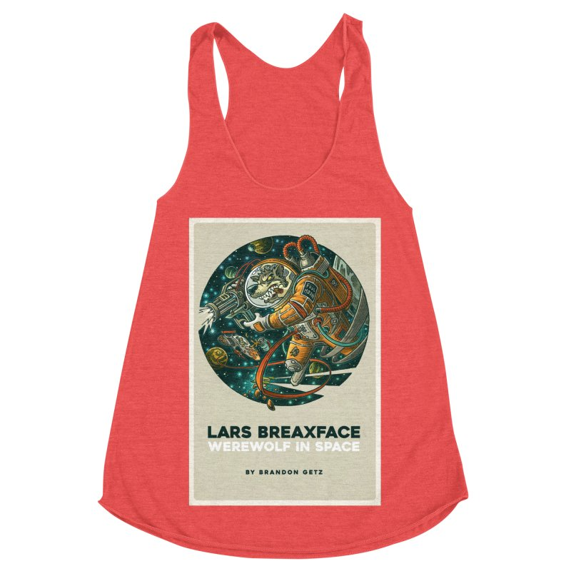 Lars Breaxface Cover - Joe Mruk Women's Racerback Triblend Tank by Spaceboy Books LLC's Artist Shop