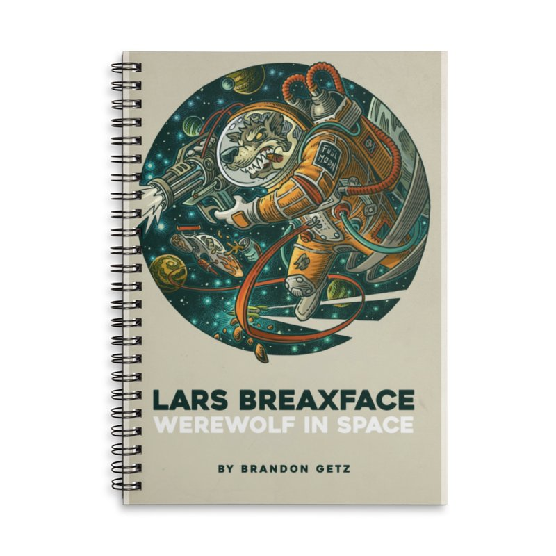 Lars Breaxface Cover - Joe Mruk Accessories Lined Spiral Notebook by Spaceboy Books LLC's Artist Shop