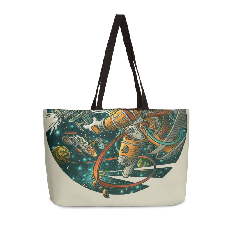 Lars Breaxface Cover - Joe Mruk Accessories Weekender Bag Bag by Spaceboy Books LLC's Artist Shop