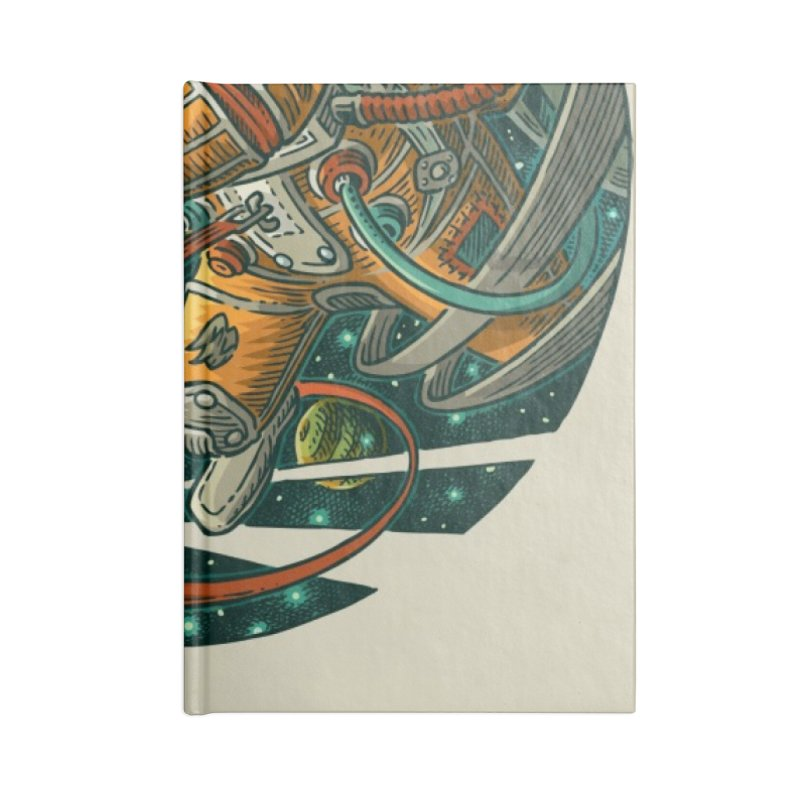 Lars Breaxface Cover - Joe Mruk Accessories Lined Journal Notebook by Spaceboy Books LLC's Artist Shop