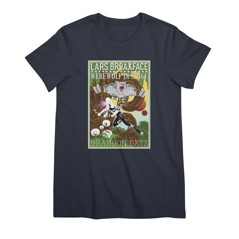 Lars Breaxface Cover - Brian Price Women's Premium T-Shirt by Spaceboy Books LLC's Artist Shop