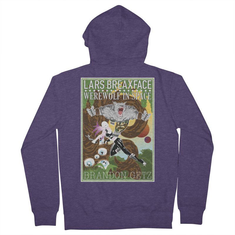 Lars Breaxface Cover - Brian Price Men's French Terry Zip-Up Hoody by Spaceboy Books LLC's Artist Shop