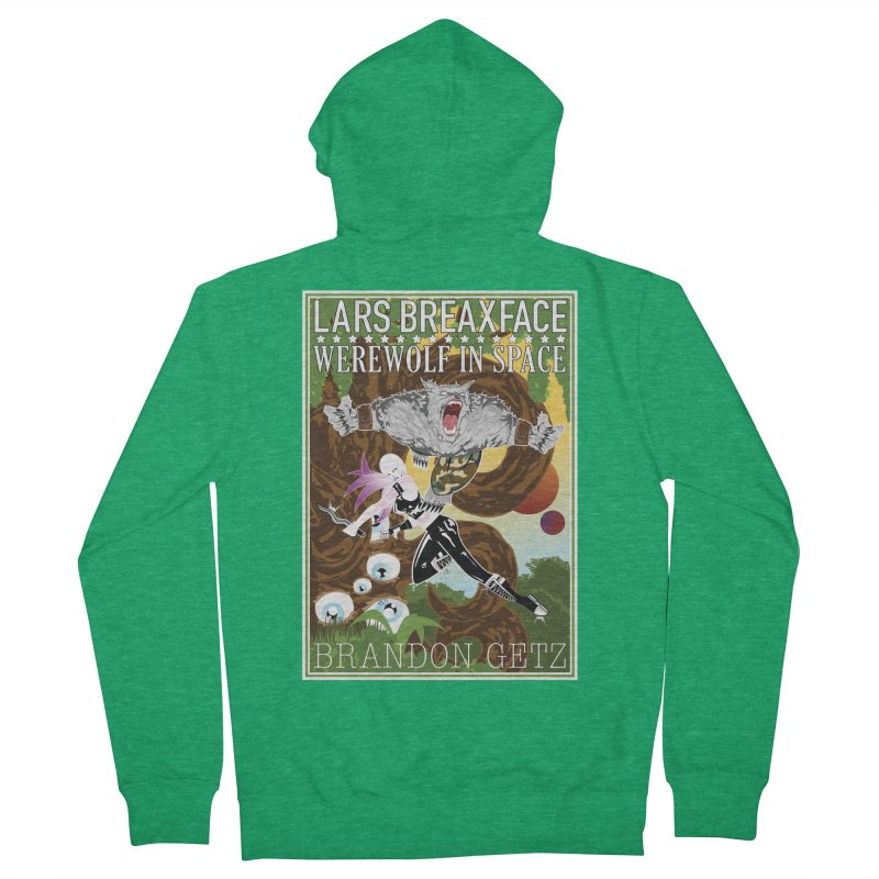 Lars Breaxface Cover - Brian Price Men's Zip-Up Hoody by Spaceboy Books LLC's Artist Shop