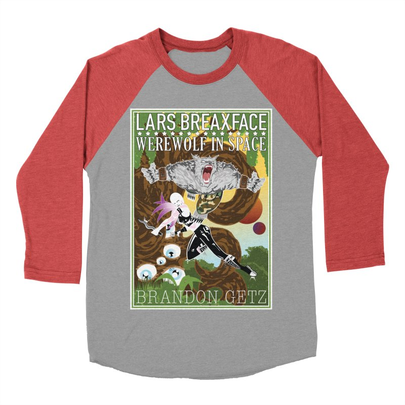 Lars Breaxface Cover - Brian Price Men's Baseball Triblend Longsleeve T-Shirt by Spaceboy Books LLC's Artist Shop