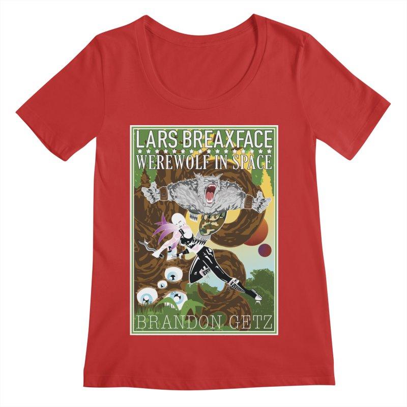 Lars Breaxface Cover - Brian Price Women's Regular Scoop Neck by Spaceboy Books LLC's Artist Shop
