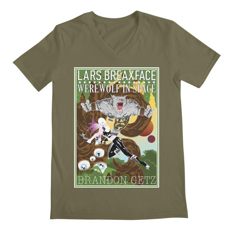 Lars Breaxface Cover - Brian Price Men's Regular V-Neck by Spaceboy Books LLC's Artist Shop