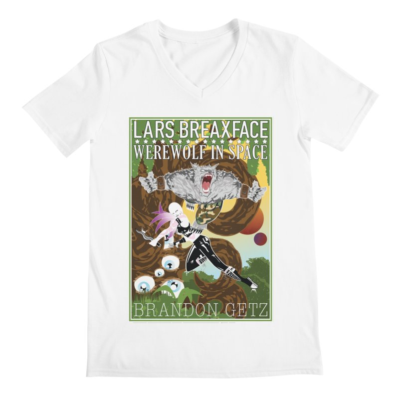 Lars Breaxface Cover - Brian Price Men's V-Neck by Spaceboy Books LLC's Artist Shop