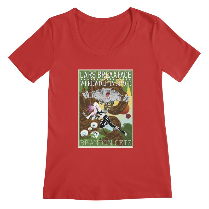 Lars Breaxface Cover - Brian Price Women's Regular Scoop Neck by Spaceboy Books LLC's Artist Shop