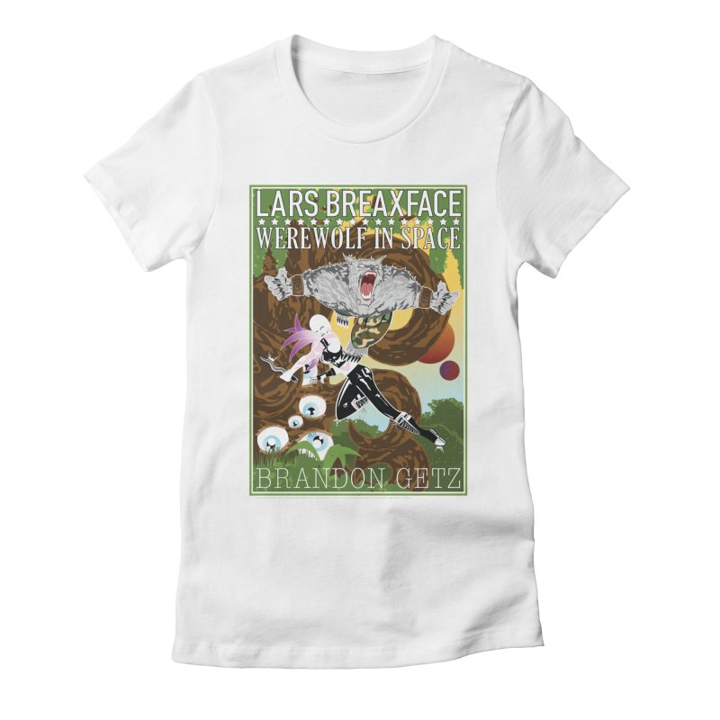 Lars Breaxface Cover - Brian Price Women's Fitted T-Shirt by Spaceboy Books LLC's Artist Shop