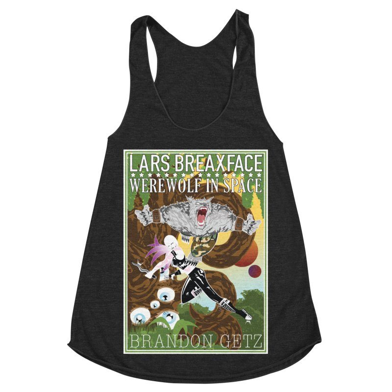 Lars Breaxface Cover - Brian Price Women's Racerback Triblend Tank by Spaceboy Books LLC's Artist Shop