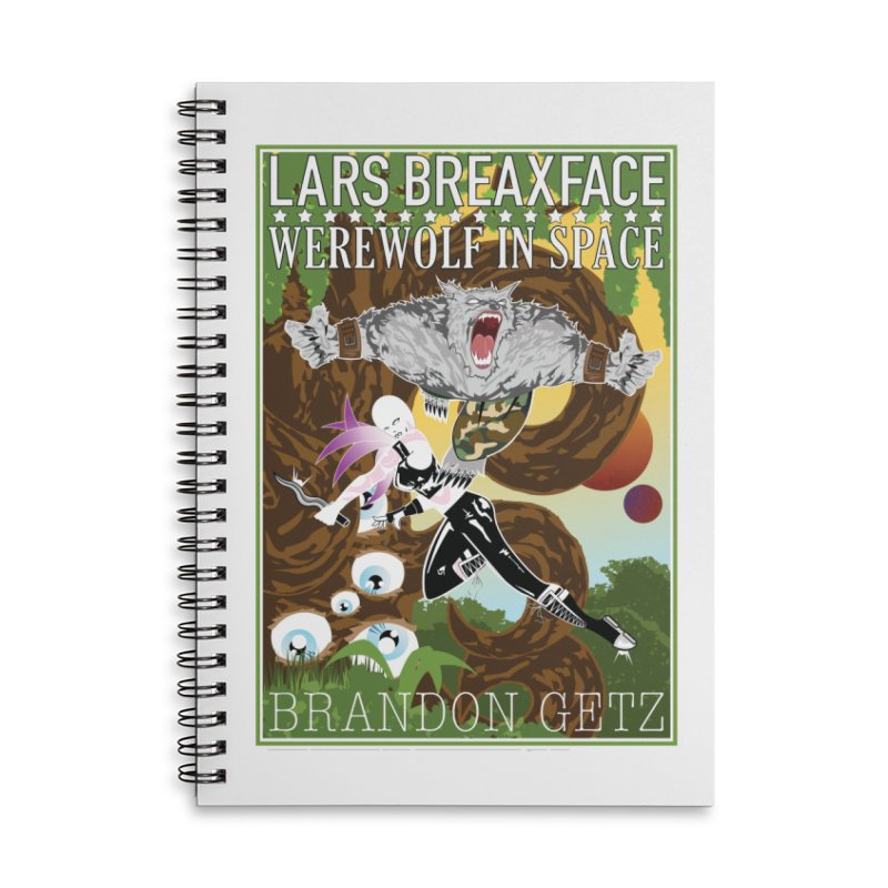 Lars Breaxface Cover - Brian Price Accessories Lined Spiral Notebook by Spaceboy Books LLC's Artist Shop
