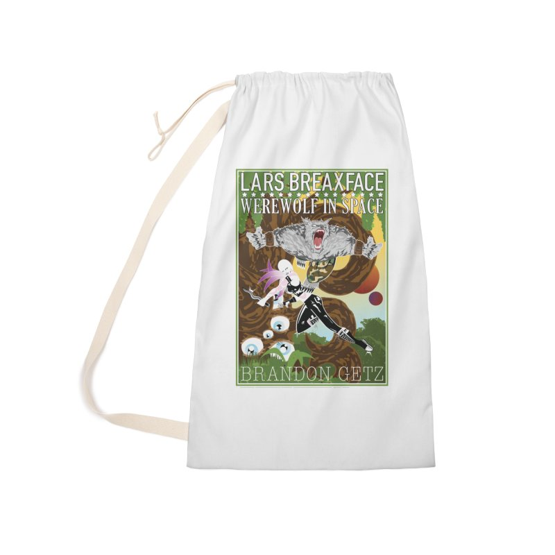 Lars Breaxface Cover - Brian Price Accessories Laundry Bag Bag by Spaceboy Books LLC's Artist Shop