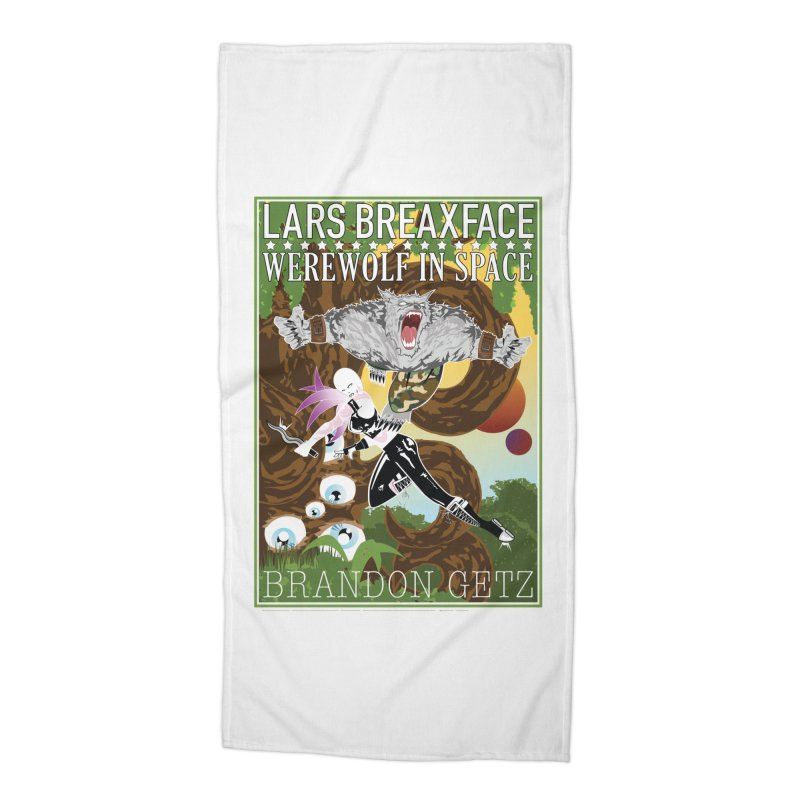 Lars Breaxface Cover - Brian Price Accessories Beach Towel by Spaceboy Books LLC's Artist Shop