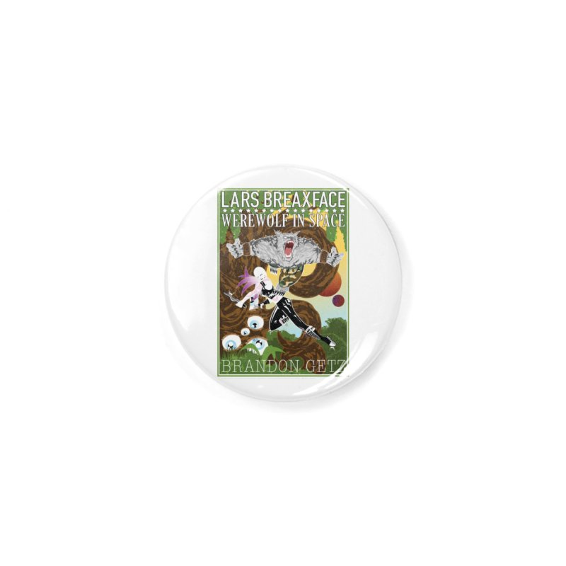 Lars Breaxface Cover - Brian Price Accessories Button by Spaceboy Books LLC's Artist Shop