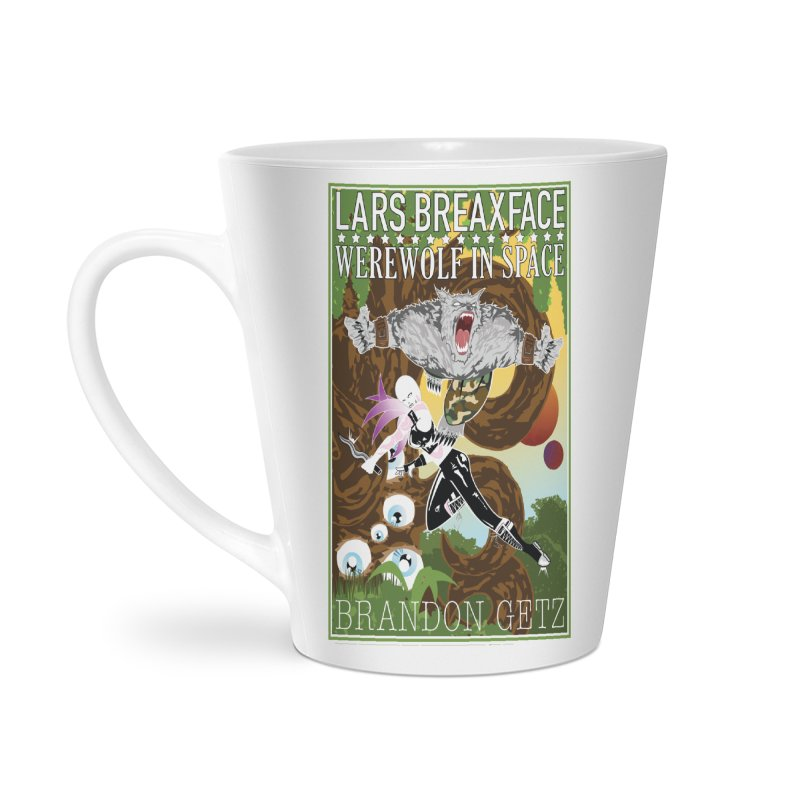 Lars Breaxface Cover - Brian Price Accessories Latte Mug by Spaceboy Books LLC's Artist Shop