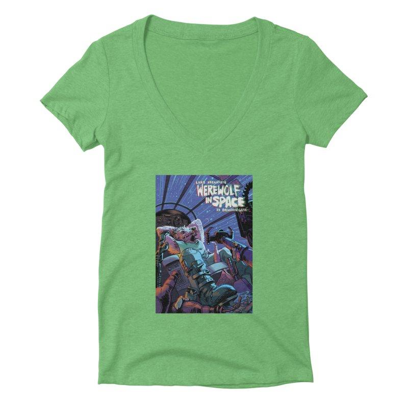 Lars Breaxface Cover - Jonas Goonface Women's Deep V-Neck V-Neck by Spaceboy Books LLC's Artist Shop