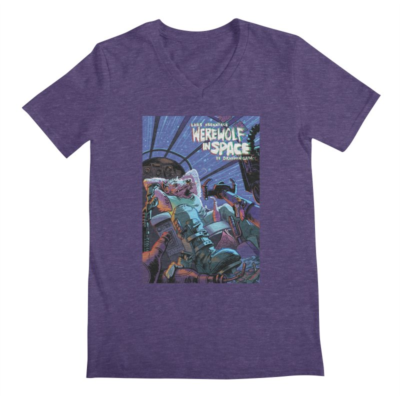 Lars Breaxface Cover - Jonas Goonface Men's Regular V-Neck by Spaceboy Books LLC's Artist Shop