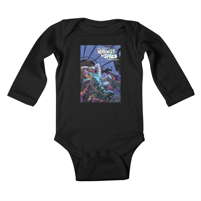 Lars Breaxface Cover - Jonas Goonface Kids Baby Longsleeve Bodysuit by Spaceboy Books LLC's Artist Shop