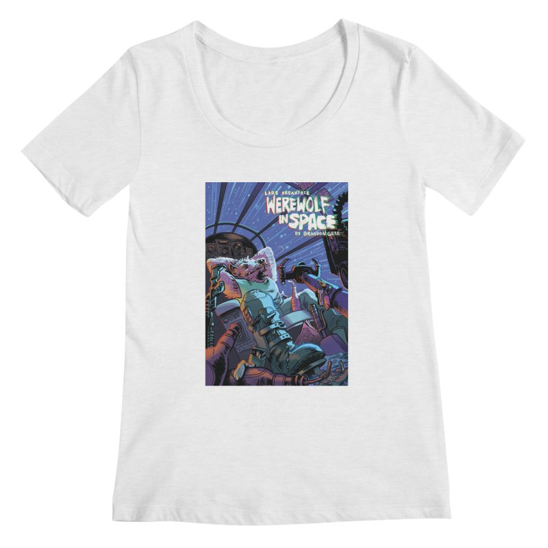 Lars Breaxface Cover - Jonas Goonface Women's Scoop Neck by Spaceboy Books LLC's Artist Shop
