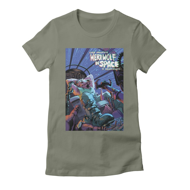 Lars Breaxface Cover - Jonas Goonface Women's Fitted T-Shirt by Spaceboy Books LLC's Artist Shop