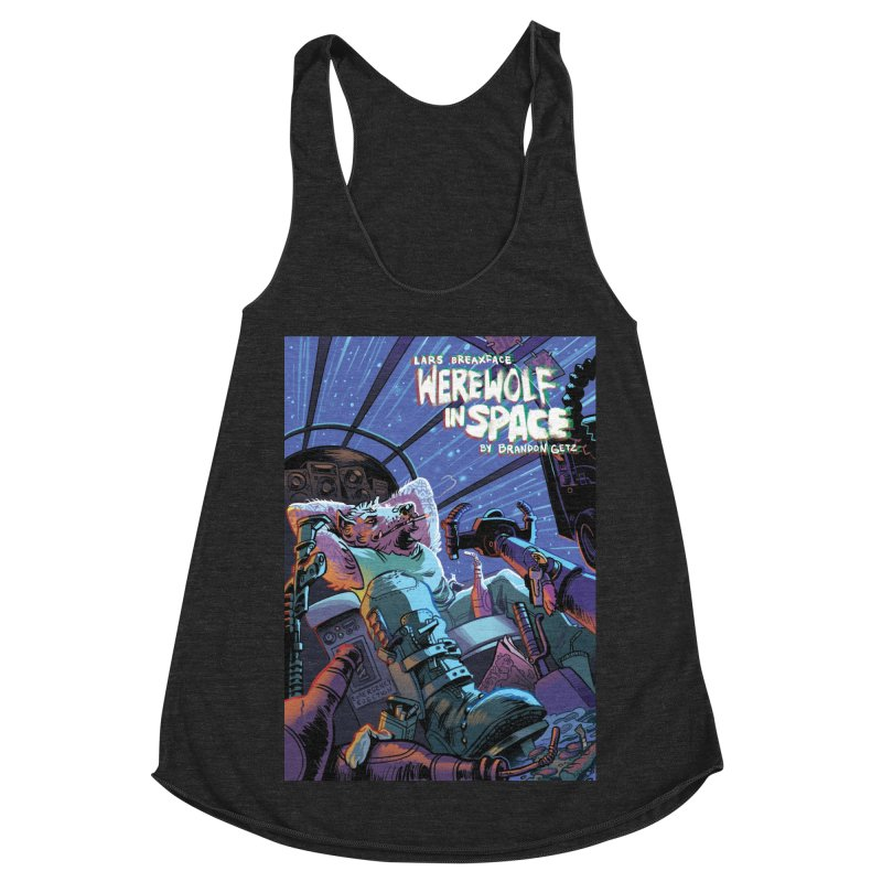 Lars Breaxface Cover - Jonas Goonface Women's Racerback Triblend Tank by Spaceboy Books LLC's Artist Shop