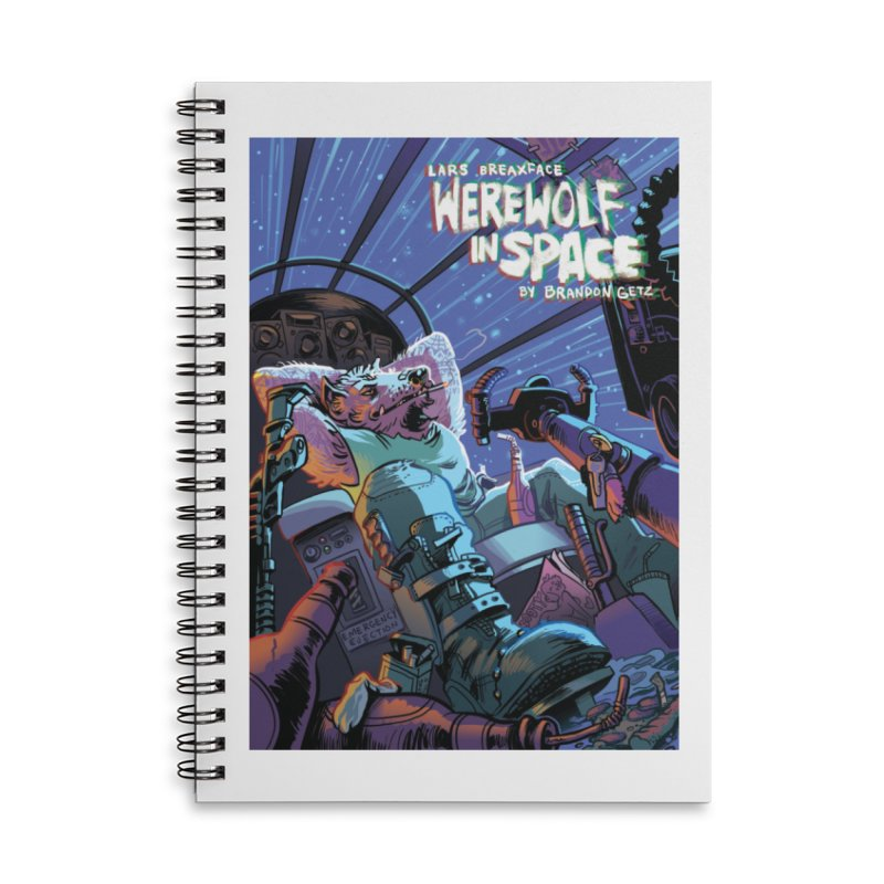 Lars Breaxface Cover - Jonas Goonface Accessories Lined Spiral Notebook by Spaceboy Books LLC's Artist Shop