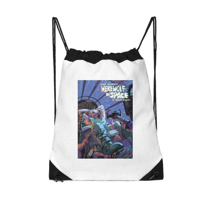 Lars Breaxface Cover - Jonas Goonface Accessories Drawstring Bag Bag by Spaceboy Books LLC's Artist Shop