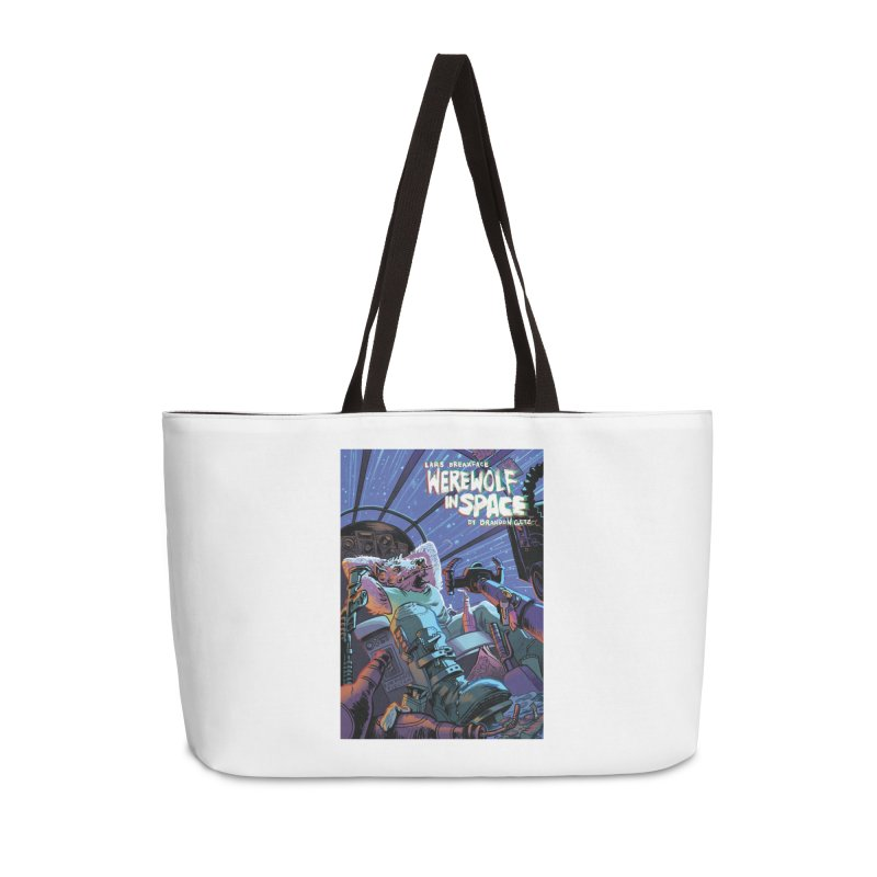 Lars Breaxface Cover - Jonas Goonface Accessories Weekender Bag Bag by Spaceboy Books LLC's Artist Shop