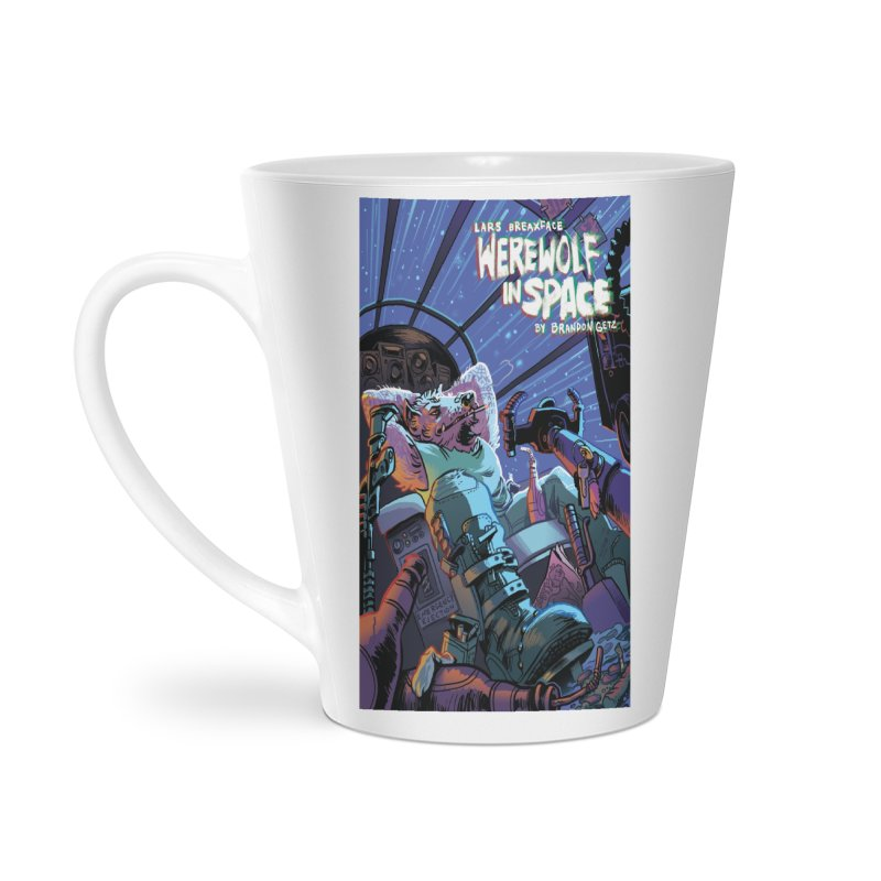 Lars Breaxface Cover - Jonas Goonface Accessories Latte Mug by Spaceboy Books LLC's Artist Shop