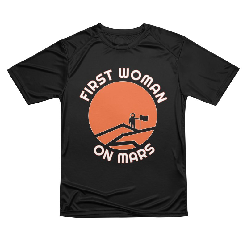 First Woman on Mars Men's Performance T-Shirt by Spaceboy Books LLC's Artist Shop