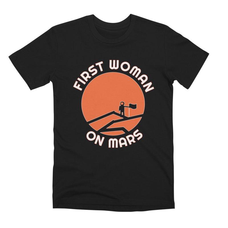 First Woman on Mars Men's Premium T-Shirt by Spaceboy Books LLC's Artist Shop