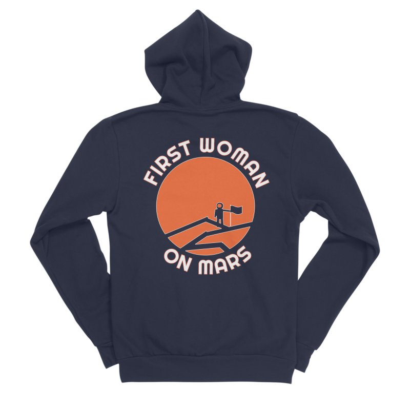 First Woman on Mars Men's Sponge Fleece Zip-Up Hoody by Spaceboy Books LLC's Artist Shop
