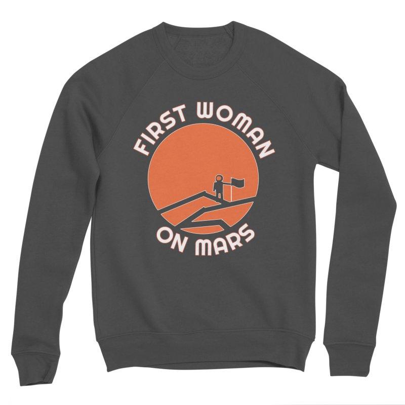 First Woman on Mars Men's Sponge Fleece Sweatshirt by Spaceboy Books LLC's Artist Shop