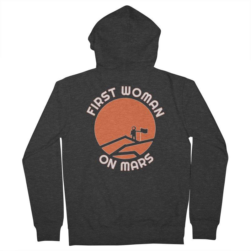 First Woman on Mars Men's Zip-Up Hoody by Spaceboy Books LLC's Artist Shop